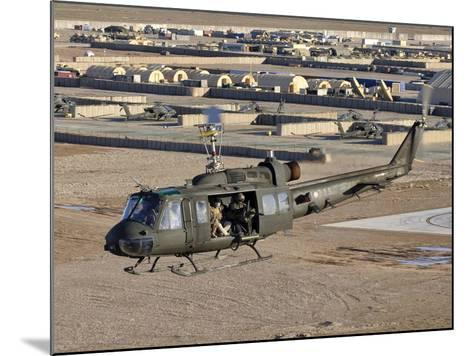 Italian Army AB-205MEP Utility Helicopter in Flight over Shindand, Afghanistan-Stocktrek Images-Mounted Photographic Print