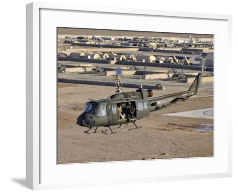 Italian Army AB-205MEP Utility Helicopter in Flight over Shindand, Afghanistan-Stocktrek Images-Framed Art Print