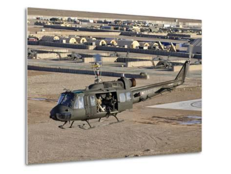 Italian Army AB-205MEP Utility Helicopter in Flight over Shindand, Afghanistan-Stocktrek Images-Metal Print