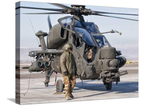 An Italian Army Agusta AW129 Mangusta Attack Helicopter-Stocktrek Images-Stretched Canvas Print
