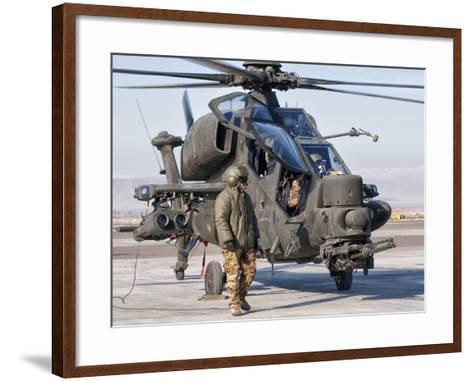 An Italian Army Agusta AW129 Mangusta Attack Helicopter-Stocktrek Images-Framed Art Print