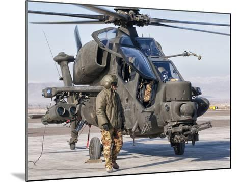 An Italian Army Agusta AW129 Mangusta Attack Helicopter-Stocktrek Images-Mounted Photographic Print