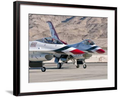 U.S. Air Force Thunderbirds on the Ramp at Nellis Air Force Base, Nevada-Stocktrek Images-Framed Art Print