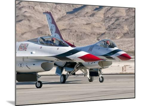 U.S. Air Force Thunderbirds on the Ramp at Nellis Air Force Base, Nevada-Stocktrek Images-Mounted Photographic Print