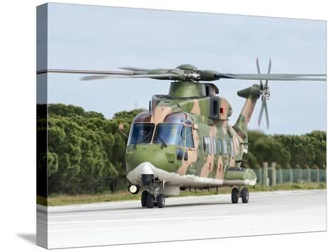 An Agusta Westland EH101 of the Portuguese Air Force-Stocktrek Images-Stretched Canvas Print