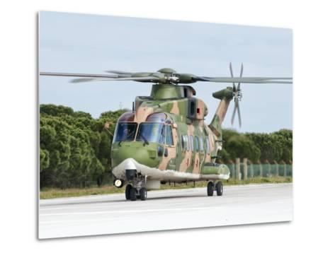 An Agusta Westland EH101 of the Portuguese Air Force-Stocktrek Images-Metal Print