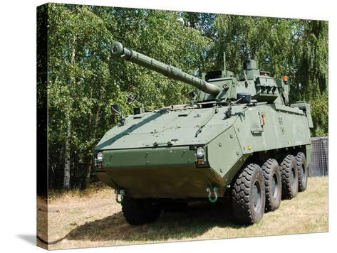 A Belgian Army Piranha IIIC with the Lcts-90 Cockerill Mk8 Gun-Stocktrek Images-Stretched Canvas Print