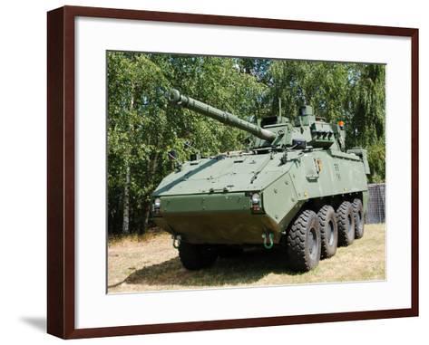 A Belgian Army Piranha IIIC with the Lcts-90 Cockerill Mk8 Gun-Stocktrek Images-Framed Art Print
