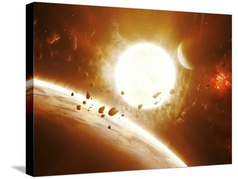 Artist's Concept of 51 Pegasi-Stocktrek Images-Stretched Canvas Print