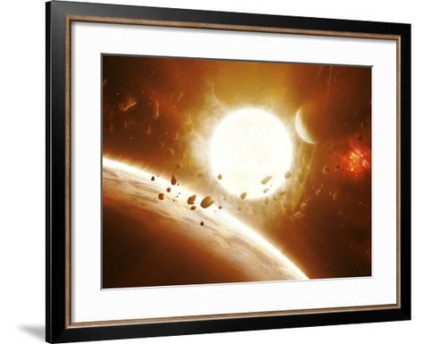 Artist's Concept of 51 Pegasi-Stocktrek Images-Framed Art Print