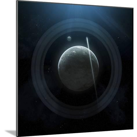 Illustration of a Simple Planet and its Ring System-Stocktrek Images-Mounted Photographic Print