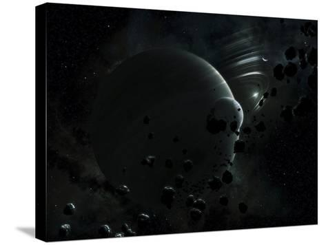 Illustration of Tyche, a Hypothetical Planet That Could Exist In the Oort Cloud in Our Solar System-Stocktrek Images-Stretched Canvas Print