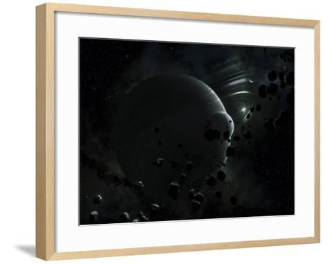 Illustration of Tyche, a Hypothetical Planet That Could Exist In the Oort Cloud in Our Solar System-Stocktrek Images-Framed Art Print