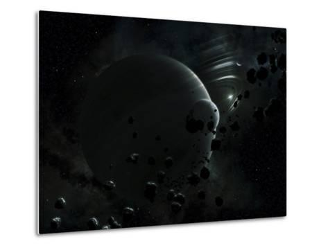 Illustration of Tyche, a Hypothetical Planet That Could Exist In the Oort Cloud in Our Solar System-Stocktrek Images-Metal Print