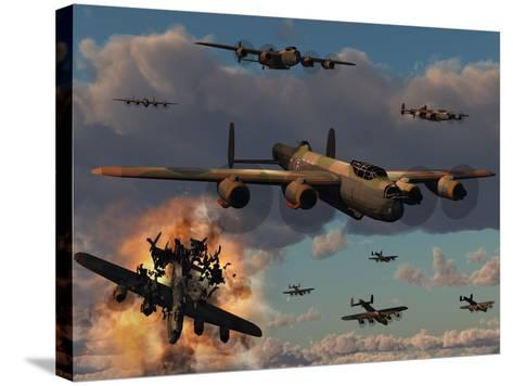 Lancaster Heavy Bombers of the Royal Air Force Bomber Command-Stocktrek Images-Stretched Canvas Print