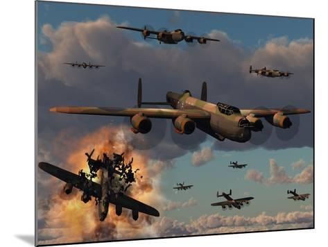 Lancaster Heavy Bombers of the Royal Air Force Bomber Command-Stocktrek Images-Mounted Photographic Print