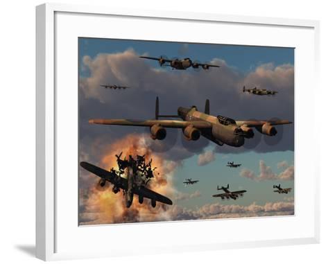 Lancaster Heavy Bombers of the Royal Air Force Bomber Command-Stocktrek Images-Framed Art Print