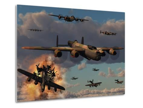 Lancaster Heavy Bombers of the Royal Air Force Bomber Command-Stocktrek Images-Metal Print