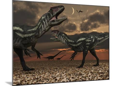 Allosaurus Dinosaurs Stalk their Next Meal-Stocktrek Images-Mounted Photographic Print