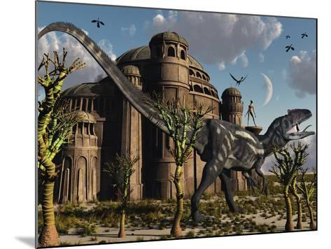 Artist's Concept of a Reptoid Race Whom Co-Existed Alongside the Dinosaurs-Stocktrek Images-Mounted Photographic Print