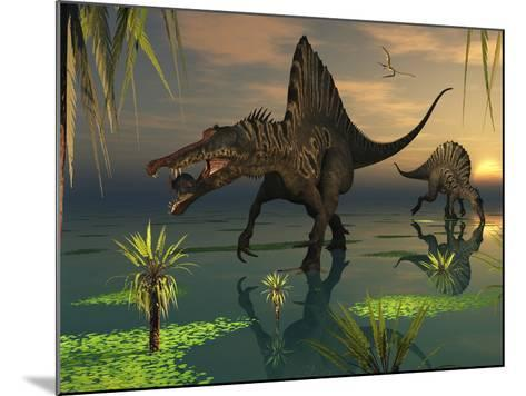 Artist's Concept of Spinosaurus-Stocktrek Images-Mounted Photographic Print