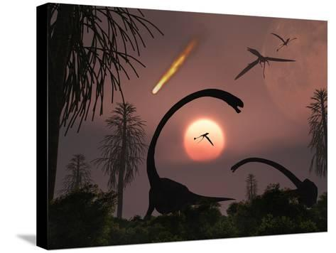 Artist's Concept of the Extinction of Prehistoric Earth-Stocktrek Images-Stretched Canvas Print
