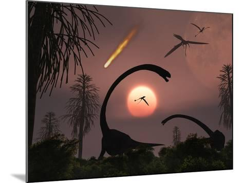 Artist's Concept of the Extinction of Prehistoric Earth-Stocktrek Images-Mounted Photographic Print