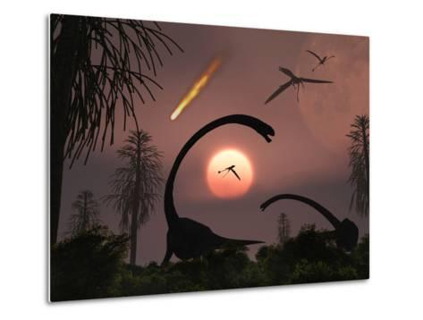 Artist's Concept of the Extinction of Prehistoric Earth-Stocktrek Images-Metal Print