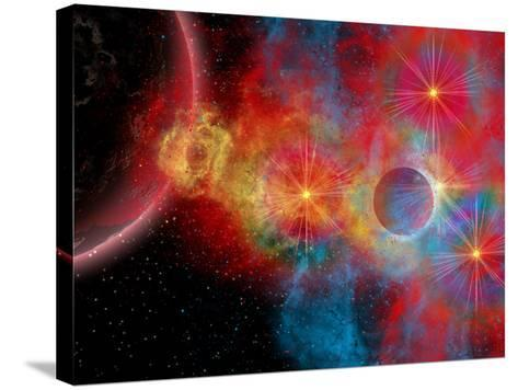 The Remains of a Supernova Give Birth to New Stars-Stocktrek Images-Stretched Canvas Print