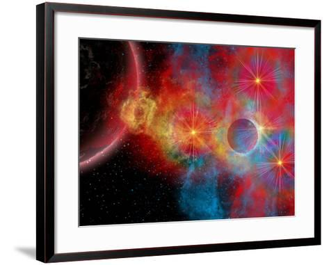 The Remains of a Supernova Give Birth to New Stars-Stocktrek Images-Framed Art Print
