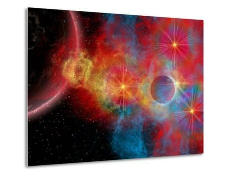 The Remains of a Supernova Give Birth to New Stars-Stocktrek Images-Metal Print