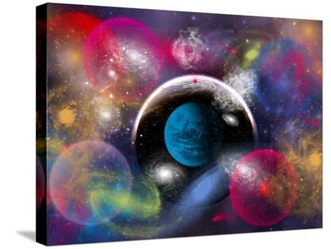 Artist's Concept of Dimensional Doorways Within the Universe-Stocktrek Images-Stretched Canvas Print