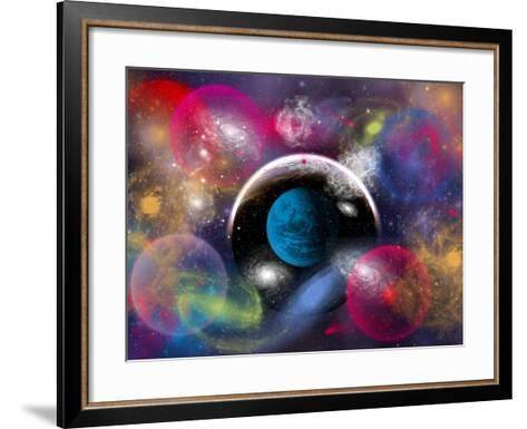 Artist's Concept of Dimensional Doorways Within the Universe-Stocktrek Images-Framed Art Print