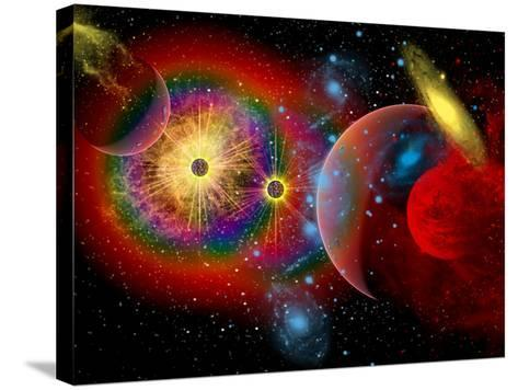 The Universe in a Perpetual State of Chaos-Stocktrek Images-Stretched Canvas Print