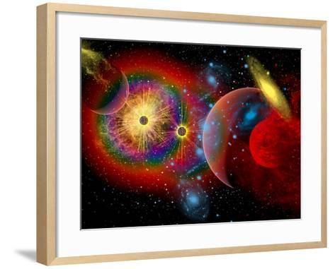 The Universe in a Perpetual State of Chaos-Stocktrek Images-Framed Art Print
