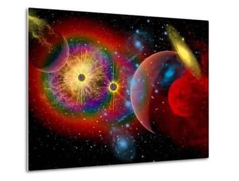 The Universe in a Perpetual State of Chaos-Stocktrek Images-Metal Print