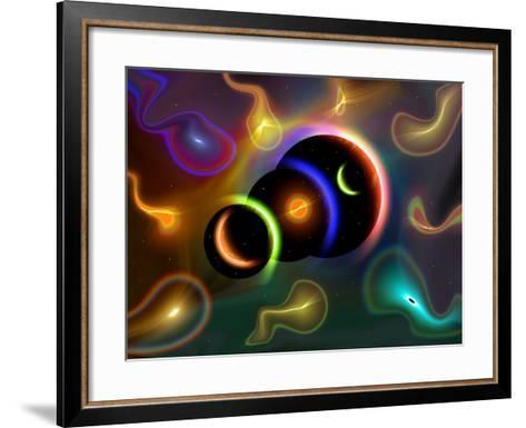 Artist's Concept of Cosmic Portals to Another Universe-Stocktrek Images-Framed Art Print