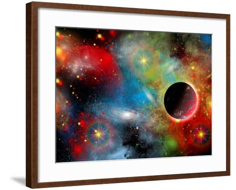 Artist's Concept Illustrating Our Beautiful Cosmic Universe-Stocktrek Images-Framed Art Print