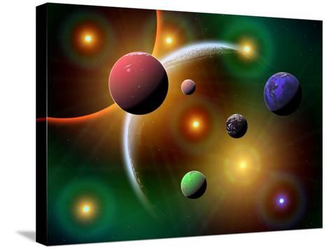 Illustration of the Variations of Stars and Planets in the Milky Way Galaxy-Stocktrek Images-Stretched Canvas Print
