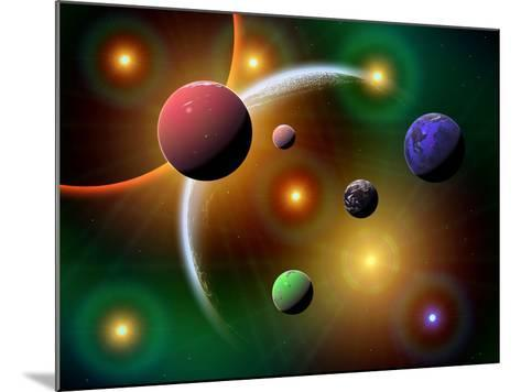 Illustration of the Variations of Stars and Planets in the Milky Way Galaxy-Stocktrek Images-Mounted Photographic Print