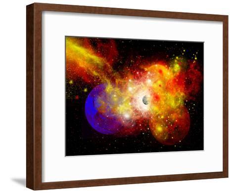 A Dying Star Turns Nova as it Blows Itself Apart-Stocktrek Images-Framed Art Print
