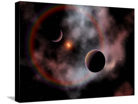 Artist's Concept of a Rose Nebula, Home to Relatively New and Young Star Systems-Stocktrek Images-Stretched Canvas Print