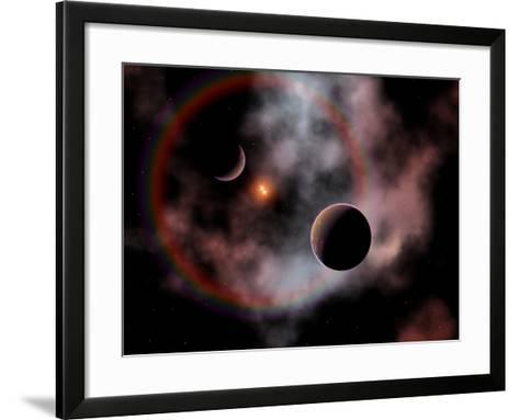 Artist's Concept of a Rose Nebula, Home to Relatively New and Young Star Systems-Stocktrek Images-Framed Art Print