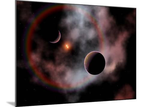 Artist's Concept of a Rose Nebula, Home to Relatively New and Young Star Systems-Stocktrek Images-Mounted Photographic Print