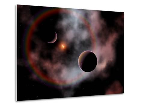 Artist's Concept of a Rose Nebula, Home to Relatively New and Young Star Systems-Stocktrek Images-Metal Print
