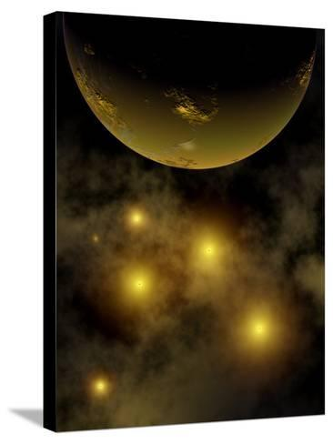 Artist's Concept Illustrating a Star Cluster in the Milky Way Galaxy-Stocktrek Images-Stretched Canvas Print