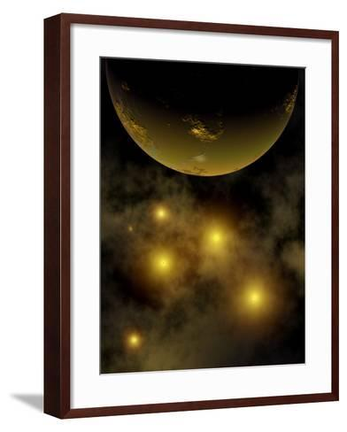 Artist's Concept Illustrating a Star Cluster in the Milky Way Galaxy-Stocktrek Images-Framed Art Print