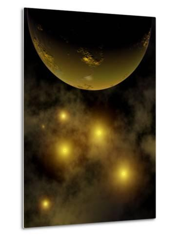 Artist's Concept Illustrating a Star Cluster in the Milky Way Galaxy-Stocktrek Images-Metal Print
