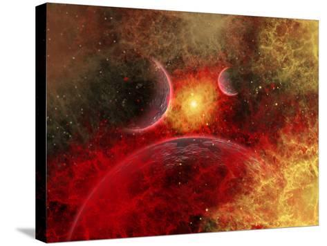 Artist' Concept Illustrating the Stellar Explosion of a Supernova-Stocktrek Images-Stretched Canvas Print