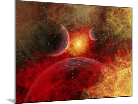 Artist' Concept Illustrating the Stellar Explosion of a Supernova-Stocktrek Images-Mounted Photographic Print